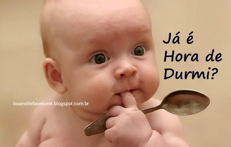 mensagem de boa noite engraçada com bebe fofo