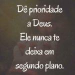 Prioridade a Deus