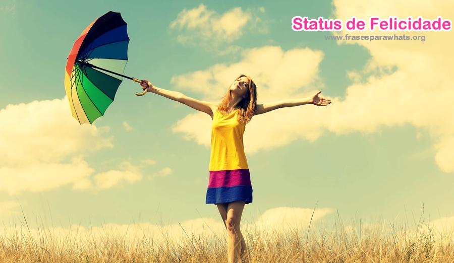 status de felicidade