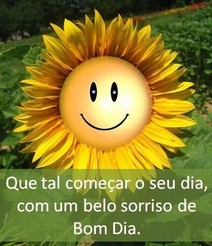 sorriso de bom dia